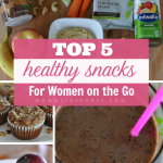 Always on the run and then realize in the afternoon you're starving? Yeah, me too. It's hard to find time for lunch, so healthy snacks are super important. Here are the top 5 healthy snacks for women on the go!