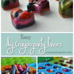 Looking for a way to upcycle those broken crayons? Save this project for a rainy day and turn those crayons into DIY Party Favors!